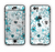 The Abstract Blue & Black Seamless Flowers Apple iPhone 6 LifeProof Nuud Case Skin Set