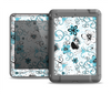 The Abstract Blue & Black Seamless Flowers Apple iPad Mini LifeProof Nuud Case Skin Set