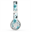 The Abstract Blue & Black Seamless Flowers Skin for the Beats by Dre Solo 2 Headphones