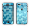 The Abstract Blue Cubed Apple iPhone 6 LifeProof Nuud Case Skin Set