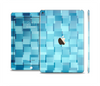 The Abstract Blue Cubed Skin Set for the Apple iPad Air 2
