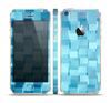 The Abstract Blue Cubed Skin Set for the Apple iPhone 5s