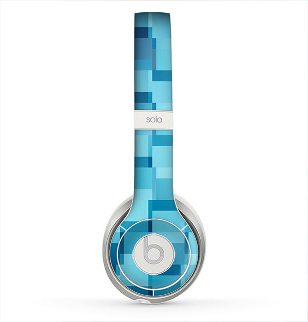 The Abstract Blue Cubed Skin for the Beats by Dre Solo 2 Headphones