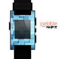 The Abstract Blue Cubed Skin for the Pebble SmartWatch