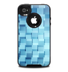 The Abstract Blue Cubed Skin for the iPhone 4-4s OtterBox Commuter Case