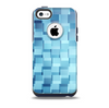 The Abstract Blue Cubed Skin for the iPhone 5c OtterBox Commuter Case