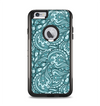 The Abstract Blue Feather Paisley Apple iPhone 6 Plus Otterbox Commuter Case Skin Set