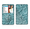 The Abstract Blue Feather Paisley Skin For The Apple iPod Classic