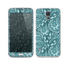 The Abstract Blue Feather Paisley Skin For the Samsung Galaxy S5