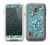 The Abstract Blue Feather Paisley Skin for the Samsung Galaxy S5 frē LifeProof Case