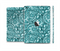 The Abstract Blue Feather Paisley Full Body Skin Set for the Apple iPad Mini 2