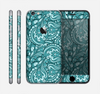 The Abstract Blue Feather Paisley Skin for the Apple iPhone 6