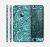 The Abstract Blue Feather Paisley Skin for the Apple iPhone 6 Plus