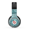 The Abstract Blue Feather Paisley Skin for the Beats by Dre Pro Headphones
