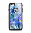 The Abstract Blue Floral Art Apple iPhone 6 Plus Otterbox Commuter Case Skin Set