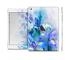 The Abstract Blue Floral Art Full Body Skin Set for the Apple iPad Mini 2