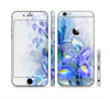 The Abstract Blue Floral Art Sectioned Skin Series for the Apple iPhone 6