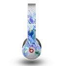 The Abstract Blue Floral Art Skin for the Beats by Dre Original Solo-Solo HD Headphones