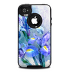 The Abstract Blue Floral Art Skin for the iPhone 4-4s OtterBox Commuter Case