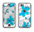 The Abstract Blue Floral Pattern V4 Apple iPhone 6 LifeProof Nuud Case Skin Set