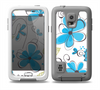The Abstract Blue Floral Pattern V4 Skin for the Samsung Galaxy S5 frē LifeProof Case