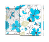 The Abstract Blue Floral Pattern V4 Skin Set for the Apple iPad Air 2