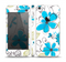 The Abstract Blue Floral Pattern V4 Skin Set for the Apple iPhone 5