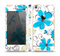 The Abstract Blue Floral Pattern V4 Skin Set for the Apple iPhone 5s