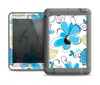 The Abstract Blue Floral Pattern V4 Apple iPad Mini LifeProof Fre Case Skin Set