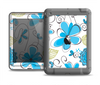 The Abstract Blue Floral Pattern V4 Apple iPad Mini LifeProof Nuud Case Skin Set