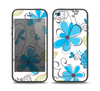 The Abstract Blue Floral Pattern V4 Skin Set for the iPhone 5-5s Skech Glow Case