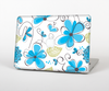 The Abstract Blue Floral Pattern V4 Skin for the Apple MacBook Pro Retina 15""