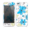 The Abstract Blue Floral Pattern V4 Skin for the Apple iPhone 5s