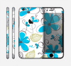 The Abstract Blue Floral Pattern V4 Skin for the Apple iPhone 6