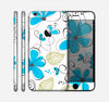 The Abstract Blue Floral Pattern V4 Skin for the Apple iPhone 6 Plus