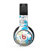 The Abstract Blue Floral Pattern V4 Skin for the Beats by Dre Pro Headphones