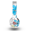 The Abstract Blue Floral Pattern V4 Skin for the Original Beats by Dre Wireless Headphones