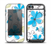 The Abstract Blue Floral Pattern V4 Skin for the iPod Touch 5th Generation frē LifeProof Case