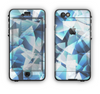 The Abstract Blue Overlay Shapes Apple iPhone 6 LifeProof Nuud Case Skin Set
