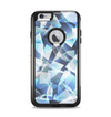 The Abstract Blue Overlay Shapes Apple iPhone 6 Plus Otterbox Commuter Case Skin Set