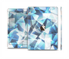 The Abstract Blue Overlay Shapes Skin Set for the Apple iPad Air 2