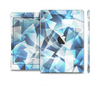 The Abstract Blue Overlay Shapes Full Body Skin Set for the Apple iPad Mini 2
