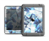 The Abstract Blue Overlay Shapes Apple iPad Mini LifeProof Nuud Case Skin Set