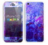 The Abstract Blue & Pink Surface Skin for the Apple iPhone 5c