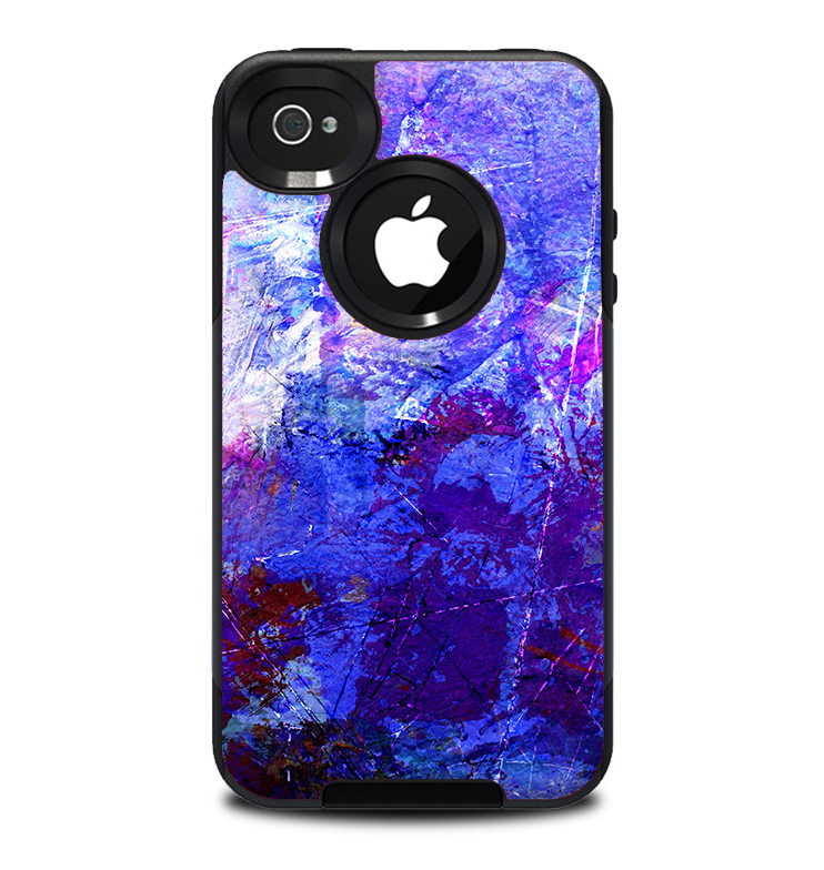 The Abstract Blue & Pink Surface Skin for the iPhone 4-4s OtterBox Commuter Case