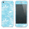 The Abstract Blue Seamless Waves Skin for the iPhone 3, 4-4s, 5-5s or 5c