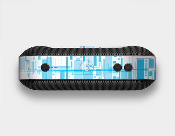 The Abstract Blue Skyline View Skin Set for the Beats Pill Plus