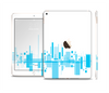 The Abstract Blue Skyline View Skin Set for the Apple iPad Air 2