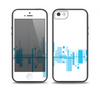 The Abstract Blue Skyline View Skin Set for the iPhone 5-5s Skech Glow Case