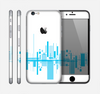 The Abstract Blue Skyline View Skin for the Apple iPhone 6